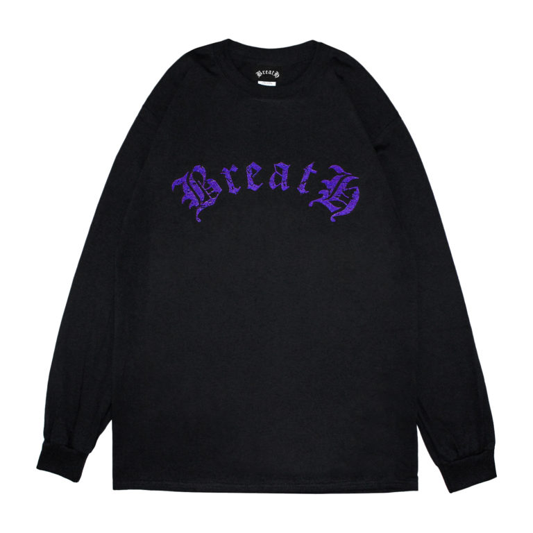 BreatH LOGO LS T-SHIRT / BLACK PURPLE