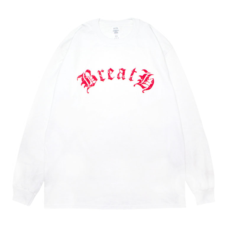 BreatH LOGO LS T-SHIRT / WHITE RED