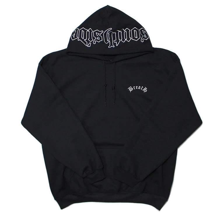 """Southside"" Embroidery Hoodie / BLACK WHITE"