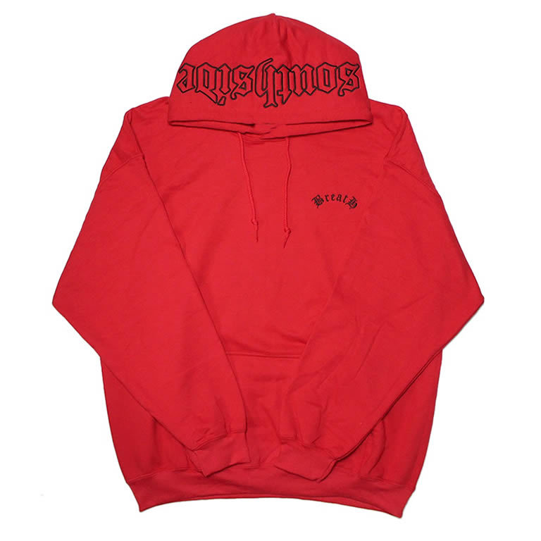 """Southside"" Embroidery Hoodie / RED"